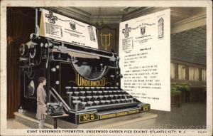 Giant Underwood Typewriter, Underwood Garden Pier Exhibit Atlantic City